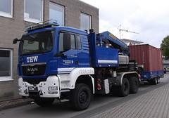 MAN TGS 28.400 - OV Bielefeld (michaelausdetmold) Tags: man tgs lkw truck kran palfinger katastrophenschutz kats fahrzeug thw bielefeld einsatz blaulicht