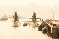 boarding (k n u l p) Tags: submarine base sea military jetty kure hiroshima japan sony nex7 sel55210 jmsdf