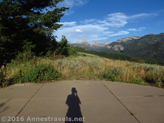 My Shadow at West Tetons Overlook (Anne's Travels 4) Tags: wyoming tetons tetoncanyon grandtetonnationalpark westtetonsoverlook shadow grandteton