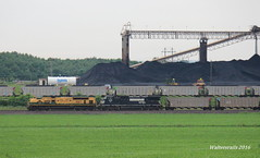 NS wb coal Francisco IN (waltersrails) Tags: emd ge trains train railraod ns erie reading heritage