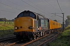 Test Train in Lancashire (garstangpost.t21) Tags: 37610 37601 1q47 derbyrtc carlisle woodacre flickrunitedaward