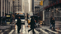Still got Love for the Streets (Dj Poe) Tags: andrewmohrer djpoe 2016 ny nyc candid cinematic cinema street streets photography color tones rain raining umbrella manhattan downtown newyork newyorkcity city sony sonyilce7rm2 canon70200mmf28lisusm 70200 a7rii a7r2 sonya7r2 sonya7rii taxi cab cabbie yellowtaxi bus buses financialdistrict cortlandstreet 169