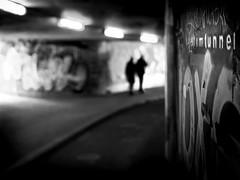 in the tunnel (frank_hb) Tags: bw black blackandwhite contrast shadow street streetphotography silhouette bremen tunnel schatten schwarz kontrast dark dunkel
