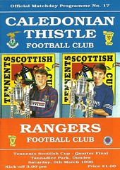 Caledonian Thistle v Rangers 19960309 (tcbuzz) Tags: inverness caledonian football club tannadice park dundee scottish cup scotland programme