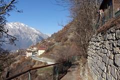 Isrables (bulbocode909) Tags: valais suisse isrables villages maisons chalets sentiers arbres nature montagnes automne neige bleu paysages barrires murs pierres