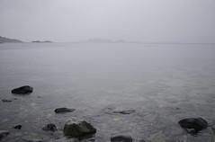 Sea and fog (-Kj.) Tags: flatraket nordfjord summer rain fog grey sea remake