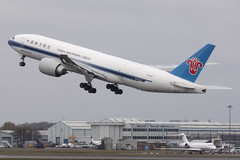 Boeing 777-F1B, China Southern (nickchalloner) Tags: london stansted airport egss stn b2010 boeing 777f1b b777f1b 777f b777f 777200 b777200 china southern csn cz