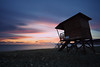 Sentinel (Alex Apostolopoulos) Tags: longexposure sunset clouds lifeguardtower seascape sky beach november sea water skyscape cyprus sony sonya6000 ilce6000 samyang12mmf20ncscs samyang haida ndfilter manfrottobefree
