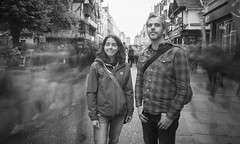 (Attila Pasek) Tags: oxford bw blackandwhite couple longexposure longexposuretime motionblur peopel portrait street walker