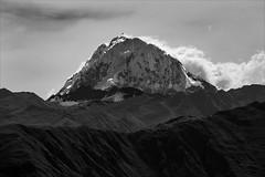 Mountain Gods (kate willmer) Tags: mountain cloud snow hills sunshine landscape monochrome mono bw blackandwhite andes salcantay altiplano peru