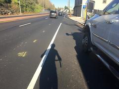 New striping on Highway 30-4.jpg (BikePortland.org) Tags: bikelanes dirty30 highway30