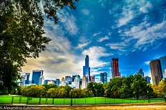 Central park views (Alexandros Gabrielsen) Tags: usa nyc ny central park skyscrapper skyline sky clouds tree trees nature cityscape cityscapes architecture landscape landscapes nikon nikor d7100 city outdoor
