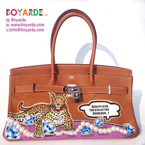 Bespoke Hermes leopard Birkin