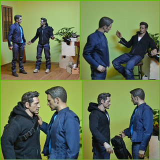 Тони показывает Стиву дом.коллаж