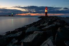 Warnemnde (Petra R.) Tags: balticsea ostsee lighthouse landscape sea meer warnemnde leuchtturm landschaft blue blau kste coast