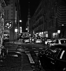 """Night in Turin"" (giannipaoloziliani) Tags: monocromo biancoenero notte torino architettura moleantonelliana vista view landscape night street urban city monochrome flickr blackandhite nikon nikoncamera nikond3200 citynightlife citynight black hdr citt skyline sky blacksky centre downtown turin piemonte italia italy cars traffic traffico auto lights luci noire streetlife streetphotography monocolore monocolor streetphoto bicycles architectures windows sidewalks archi horizon panorama people persone streetdetails details citylife centro"