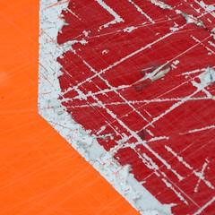 stop (primemundo) Tags: stop red orange scratch