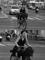 [La Mia Citt][Pedala] (Urca) Tags: milano italia 2016 bicicletta pedalare ciclista ritrattostradale portrait dittico nikondigitale mir bike bicycle biancoenero blackandwhite bn bw 907124
