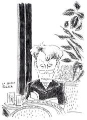 Café Le Sélect 2 (Rick Tulka) Tags: paris café caricature pencil drawing lesélect sketchbook