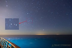 Overboard (Steven Christenson) Tags: brillianceoftheseas carribean cruise moonlight night stars squiggles cuba glow sea gulfofmexico