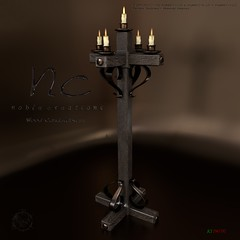 [NC] - Christmas Gift! Wood Candelabrum 3/3 (niki8901 - andycool90 ,Secondlife, Gor, Roleplay) Tags: niki8901 andycool90 nc noblecreations medieval we3roleplay wlr wlrp gor gorean fantasy sl secondlife slevents slfashion slfreeoffers