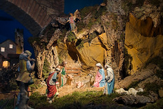 Foto di Natale HD (fotohdteam) Tags: nativity crib creche birth christ statue christmas presepio xmas presepe biblical magi bible ox donkey natal cowshed madonna jesus devotion spiritual religion religious cult stable cave scene figure representation holy family story mary virgin father mother baby set kid child infant human animal straw nude soft light gubbio umbria italy