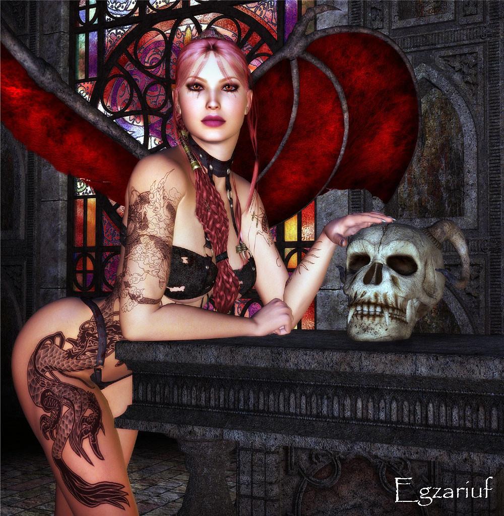 Fantasy Beautiful Tattooed Women Art