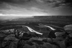 The River of Life (Eddie HBH) Tags: blackandwhite usa water clouds river landscape utah colorado desert canyons