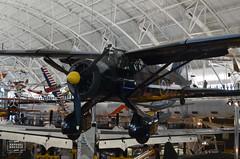 Westland Lysander IIIa (raphaelbrescia) Tags: museum virginia smithsonian museu aviation hangar boeing hazy chantilly udvar