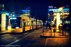 Tram @ Alexanderplatz (AreKev) Tags: street berlin yellow night germany lights crossprocessed sony tram cybershot alexanderplatz network mitte tramway sonycybershot lomoish bvg rx100 berlinerverkehrsbetriebe flexity bombardiertransportation berlintram flexityberlin flexitytram dscrx100 sonydscrx100 tramwaynetwork berlintramwaynetwork