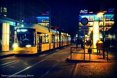 Tram @ Alexanderplatz (AreKev) Tags: street berlin yellow night germany lights crossprocessed sony tram cybershot alexanderplatz network mitte tramway sonycybershot lomoish bvg rx100 berlinerverkehrsbetriebe flexity bombardiertransportation berlintram flexityberlin flexitytram dscrx100 sonydscrx100 tramwaynetwork berlintramwaynetwork