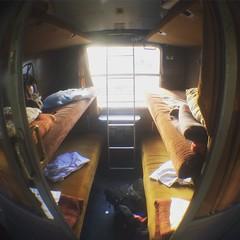 Cabin fever (Juha Helosuo) Tags: trip travel summer apple bar train cabin alone serbia railway fisheye traveller solo belgrade interrail montenegro fever iphone 5s solotravel blackeyelens