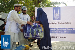 Islamic Relief distributed food, blankets and plastic sheets to families in Nangarhar district, Afghanistan, following the earthquake on Oct. 26, 2015