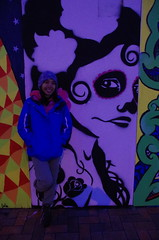 Toots and street art (4seasonbackpacking) Tags: winter newzealand streetart art walking graffiti hiking backpacking nz southisland toots ta tramping masterton nobo achara teararoa teararoatrail 4seasonbackpacking fourseasonbackpacking tatrail mastertoneast