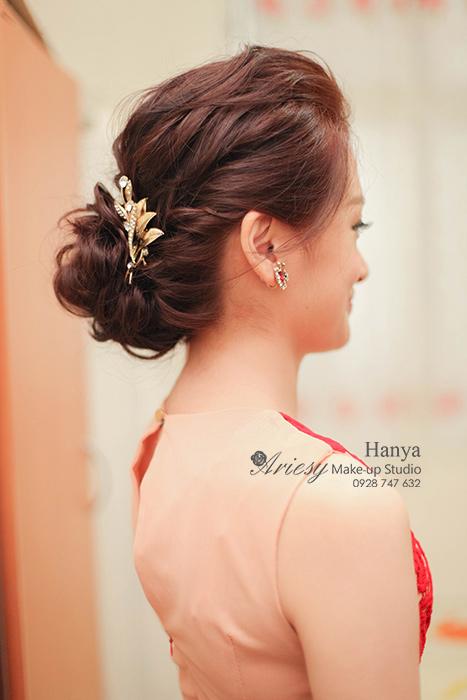 新娘秘書,新秘Hanya,台北新秘推薦,新娘造型,新娘髮型,愛瑞思造型團隊,訂婚造型