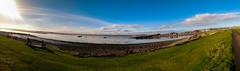 Holy Island Panorama 1 (Nathan Johnson!) Tags: island holy causeway