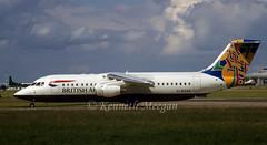 G-BZAU (Ken Meegan) Tags: dublin britishairways colum bae146 rj100 logojet bae146300 gbzau cityflyerexpress worldtail e3328 britishairwayscityflyerexpress 2661998