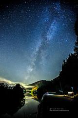星河の戀 (湯小米) Tags: canon river star maple galaxy 天空 星星 星空 倒影 星 ef1635mmf28l 星軌 startails 銀河 1dx 會津若松 只見線 星河 福島縣 startail ただみせん 第二鐵橋
