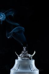 Ideas and Dreams (edrichhans) Tags: light black broken glass bulb photography experimental thomas smoke fluorescent dreams shattered ideas destroyed edison