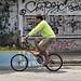 Cycle past Graffiti
