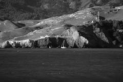 Sailing through the Golden Gate (JB by the Sea) Tags: ocean sanfrancisco california blackandwhite bw pacific marin pacificocean landsend goldengate marincounty lincolnpark pointbonita november2015