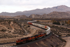 BNSF intermodal at Cajon pass (k3907492) Tags: freight bnsf intermodal cajonpass es44dc es44ac es44