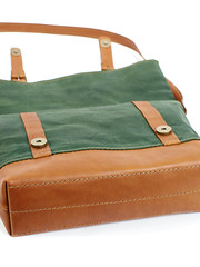 Green waxed canvas crossbody bag (Sergey Kutsenko) Tags: green leather handmade ukraine bags ua canvasbag mukachevo orangeleather waxedcanvas crossbodybag leathershoulderbag foldoverbag crossbodyleatherbag innesbags kudryart