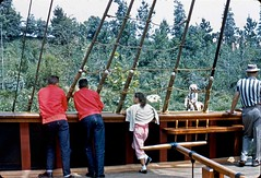 On the deck of the Columbia, July 1960 (Tom Simpson) Tags: vintage boat ship disneyland columbia disney 1960s sailingship 1960 riversofamerica vintagedisney