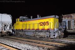 SQVR 1205 at Bridgeport, Ala (KD Rail Photography) Tags: railroad alabama trains transportation locomotive emd sw1500 switchers diesellocomotive