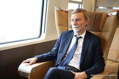 G.Delrio Ministro Trasporti e Infrastrutture (Ferrovie dello Stato Italiane) Tags: rfi trenitalia treno av linea altavelocit treviglio brescia viaggio prova trasporti infrastrutture grazianodelrio