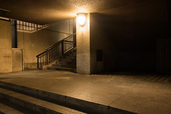 Colour of Night #2 (Are You Looking Closely) Tags: london night nightphoto nightphotography londonnight concrete stairs urban architecture fujifilm unitedkingdom fujifilmuk colour nightcolour