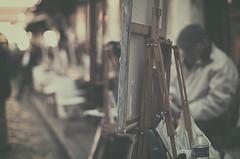 Artistas (Graella) Tags: artistas pintores montmatre pars francia france vintage cuadros pintura caballete artist painters painting picture street