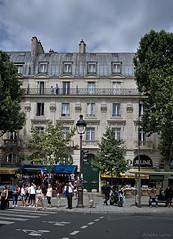 Balcony life (Antoine - Bkk) Tags: paris architecture heritage charming darktable atmosphere street life