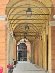 portico (Hayashina) Tags: modena italy portico lamp repetition